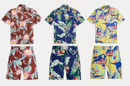 Shirts and shorts from the new Hawaii-inspired Polo Ralph Lauren collection with Walter Hoffman