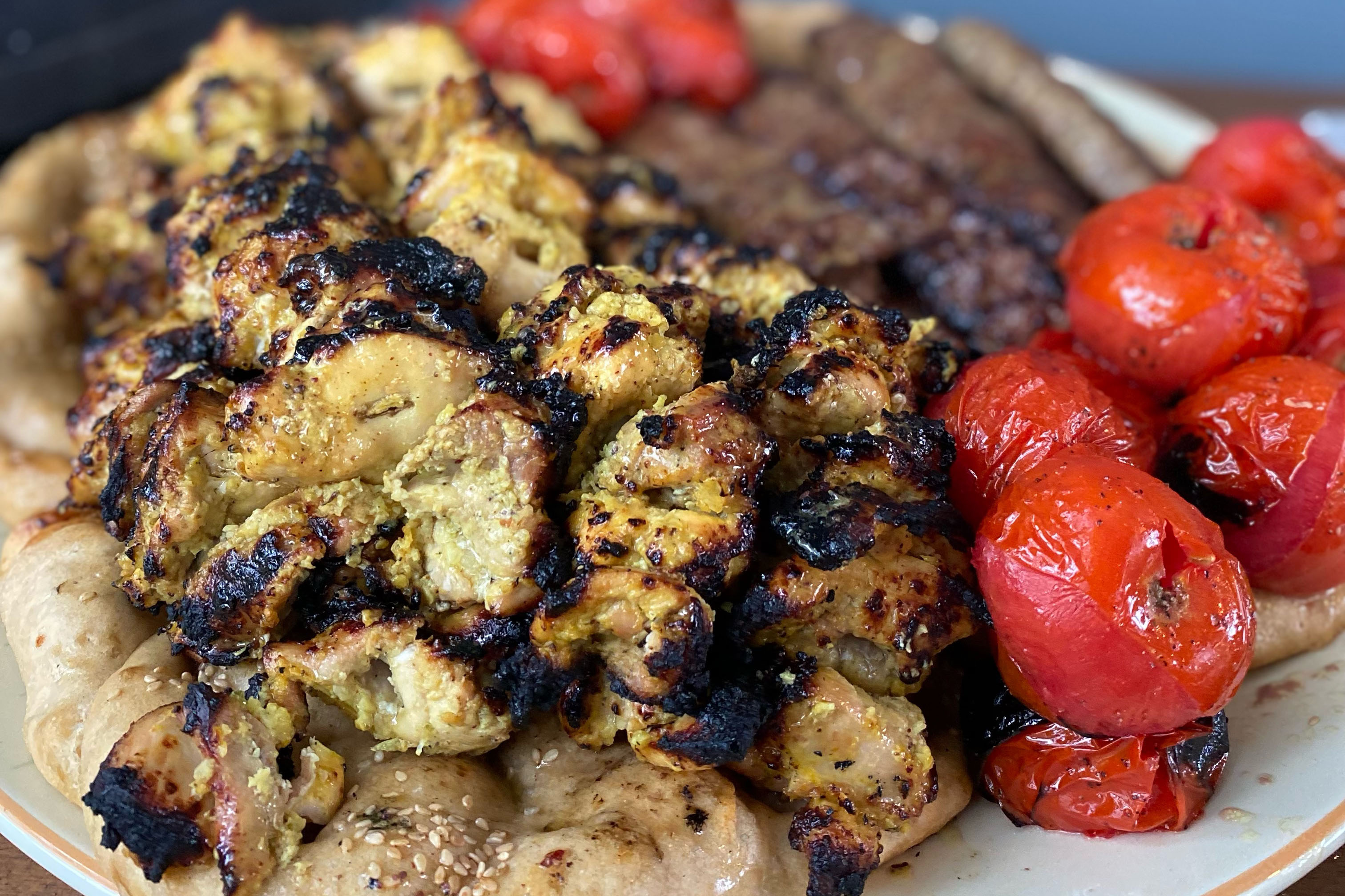Persian grilled chicken kabobs