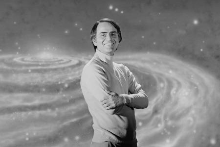 "Astronomer Carl Sagan in 1981. Sagan had critiqued sci-fi films like ""Star Wars"" for not being scientific"