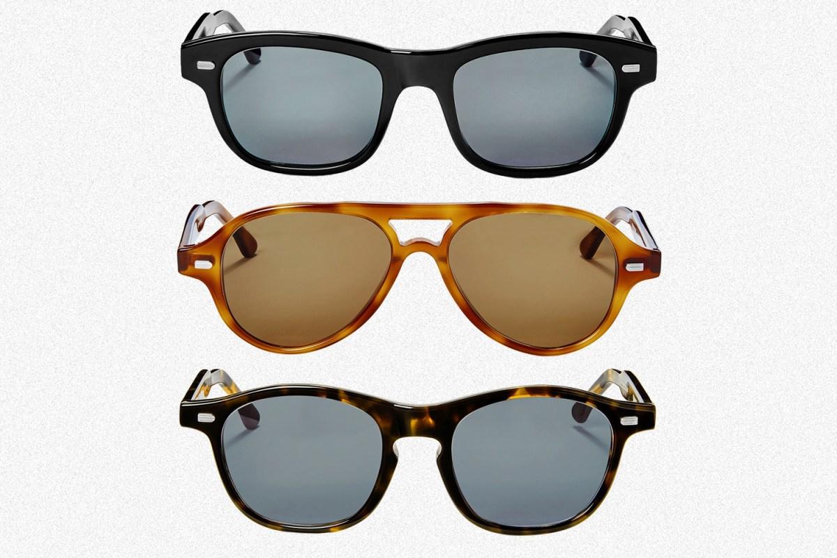 Shinola's first original sunglasses, including the Mackinac, Rambler and Bixby in black, Havana and Dark Havana