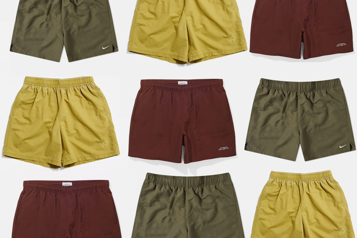 Swim shorts from Nike, Urban Outfitters and Saturdays NYC