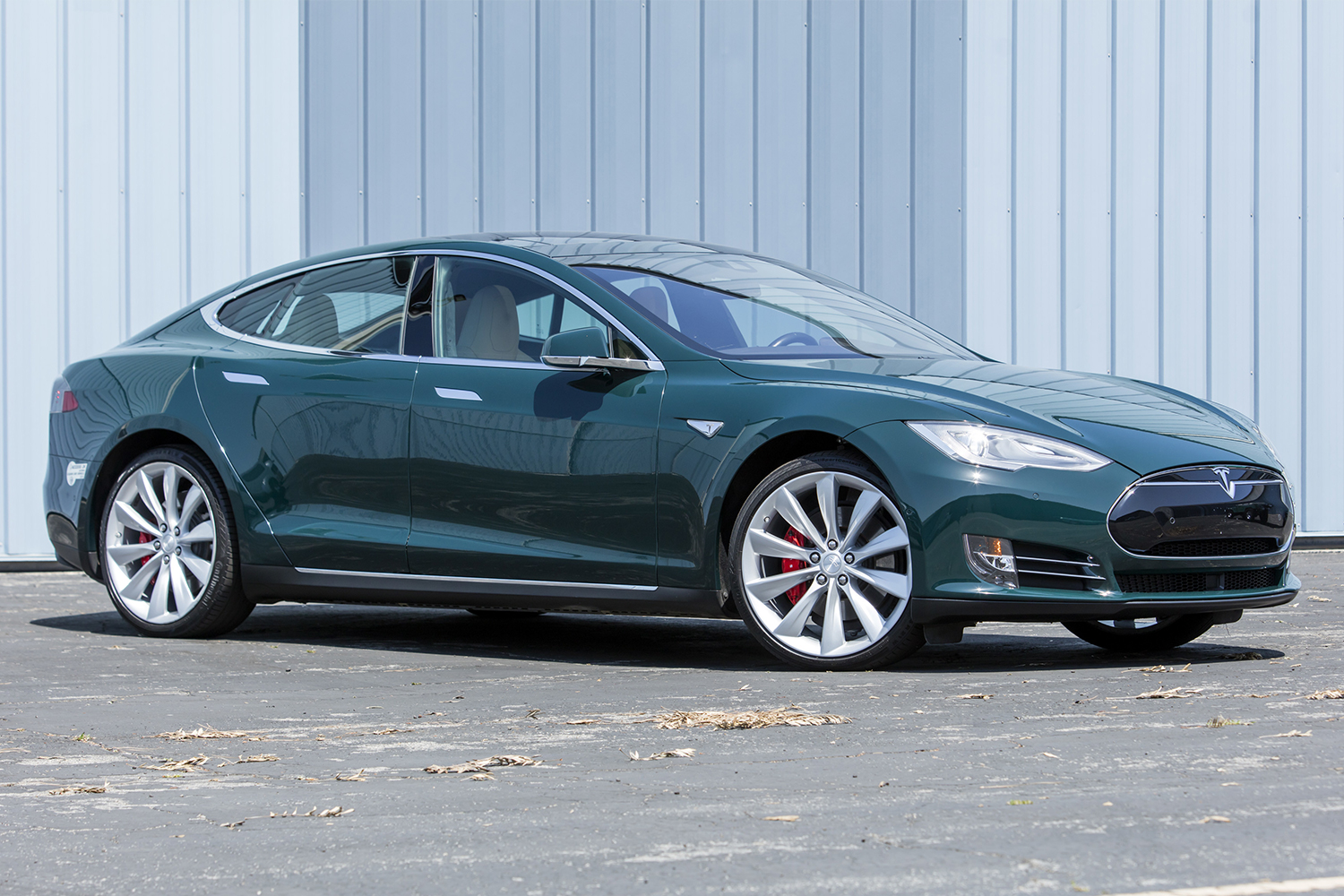 A 2015 Tesla Model S P85D owned by Tom Hanks. The electric vehicle will sell at the Bonhams Quail Lodge Auction as part of Monterey Car Week.