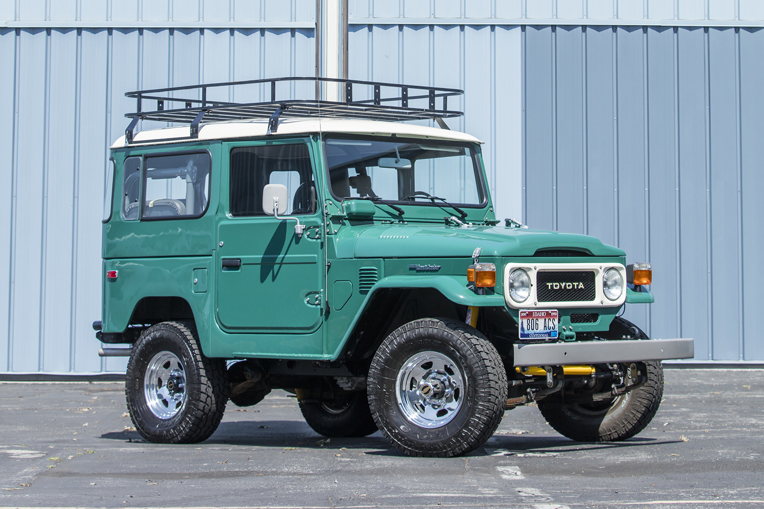 The 1980 Toyota FJ40 Land Cruiser owned by Tom Hanks. It will sell this August at the Bonhams Quail Lodge Auction at Monterey Car Week.