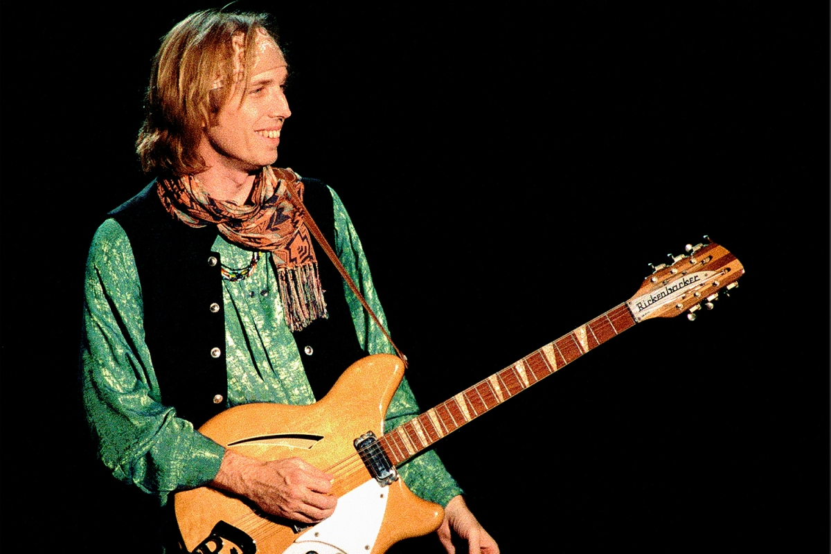 Tom Petty with his Rickenbacker guitar