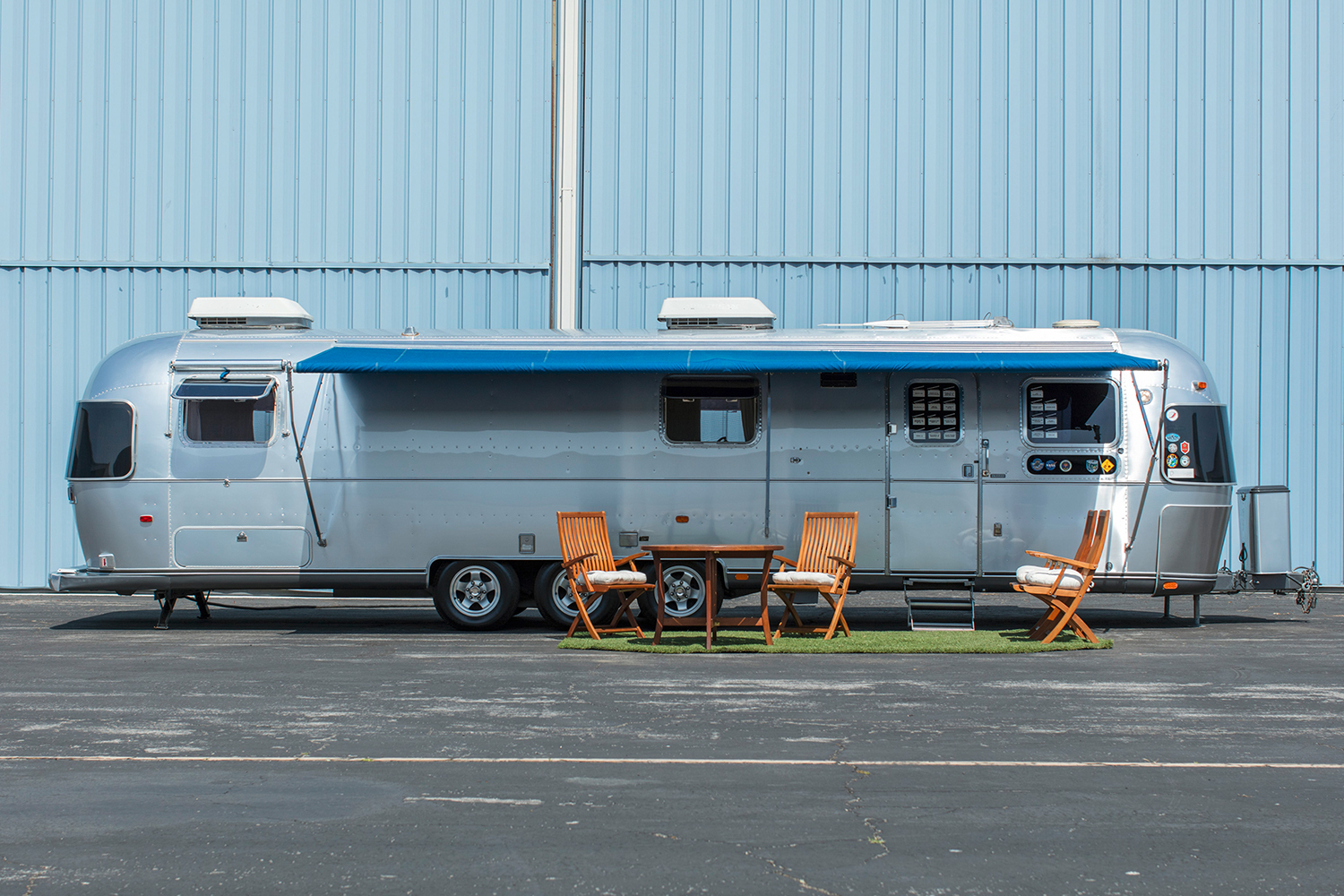 A 1992 Airstream Model 34 Limited Excella Travel Trailer owned by Tom Hanks. It's set to sell at the Bonhams Quail Lodge Auction as part of Monterey Car Week.
