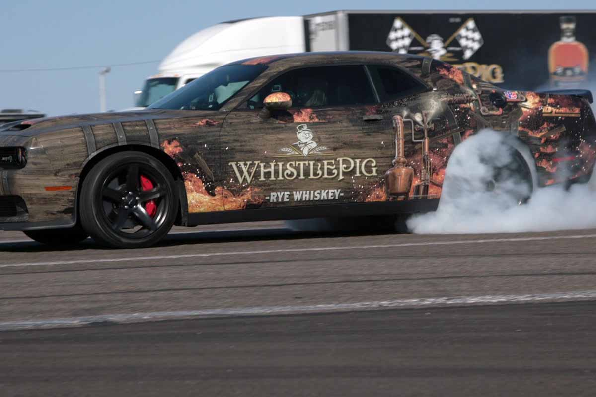WhistlePig car near the WhistlePig rolling rickhouse