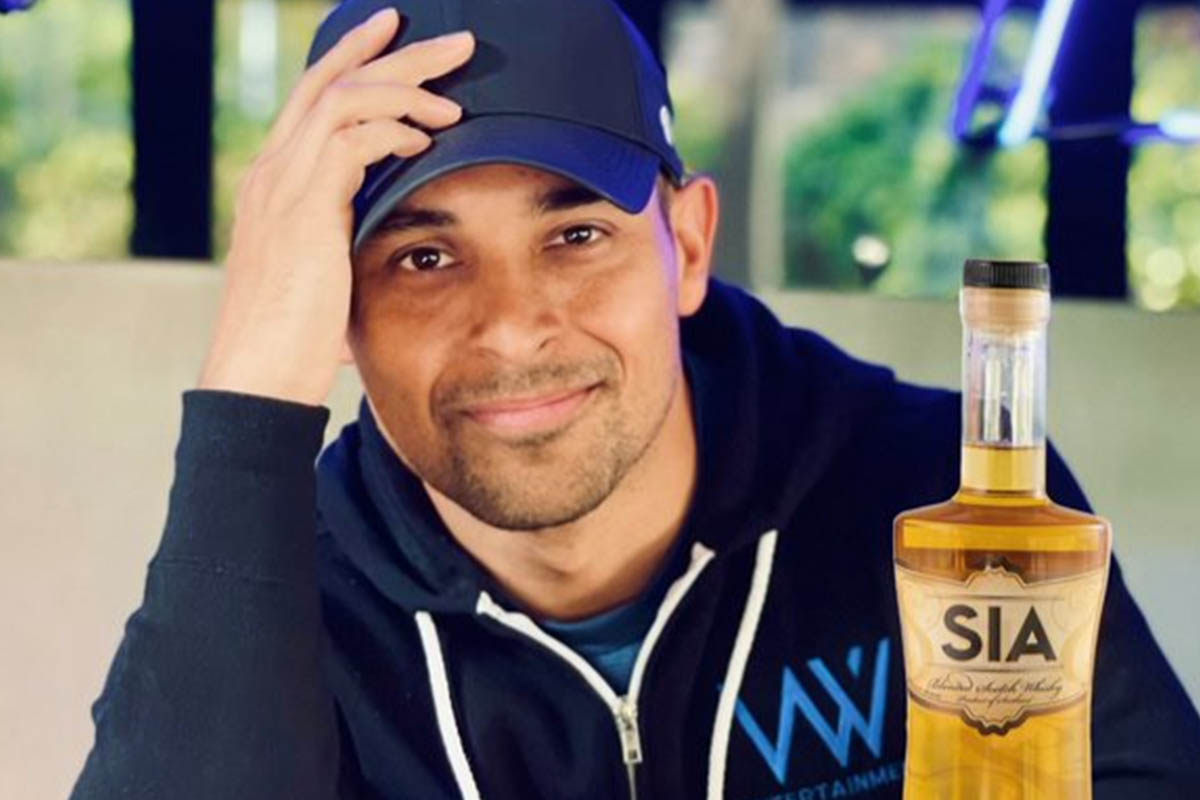Wilmer Valderrama and a bottle of SIA Scotch. The actor is helping the whisky brand publicize a fund for multicultural entrepreneurs.