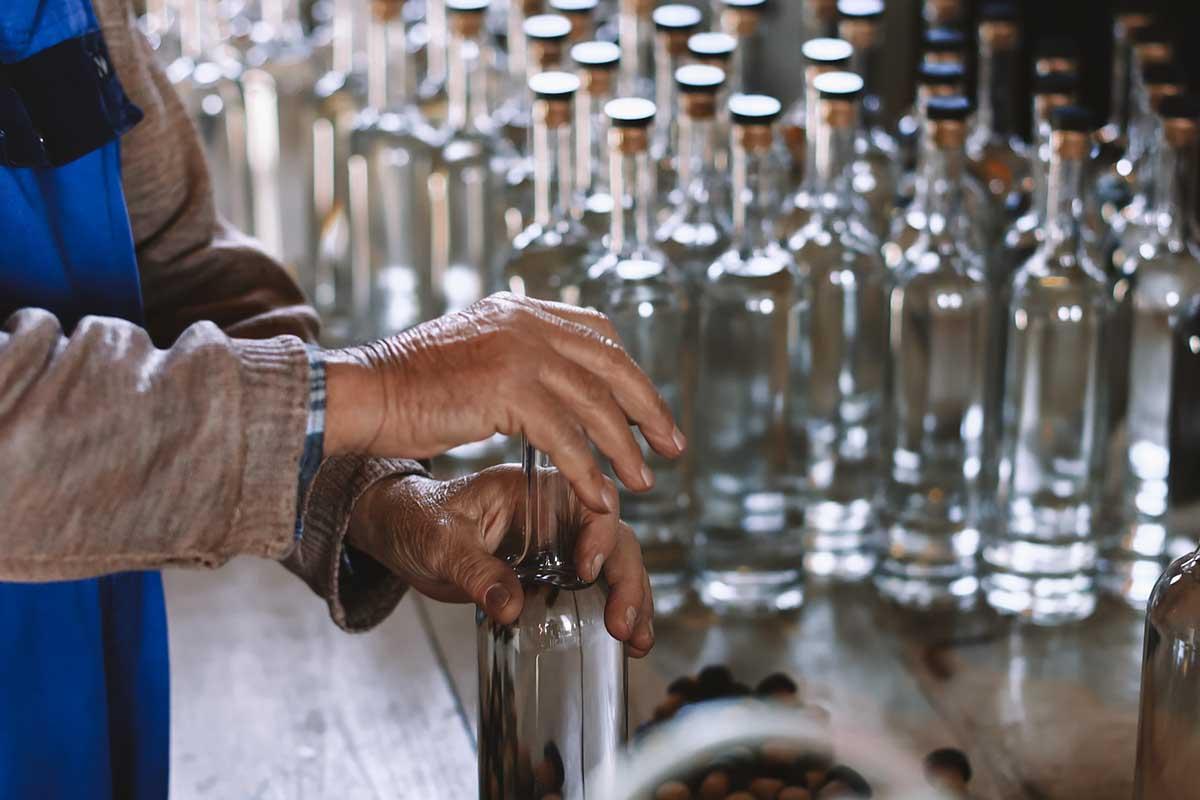 Crafting and bottling rakija, a fruit spirit from the Balkans