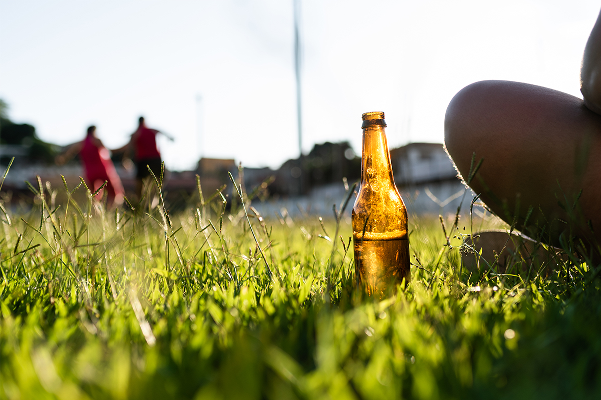 beer after workout