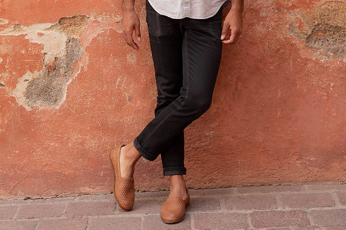 nisolo leather slip-ons
