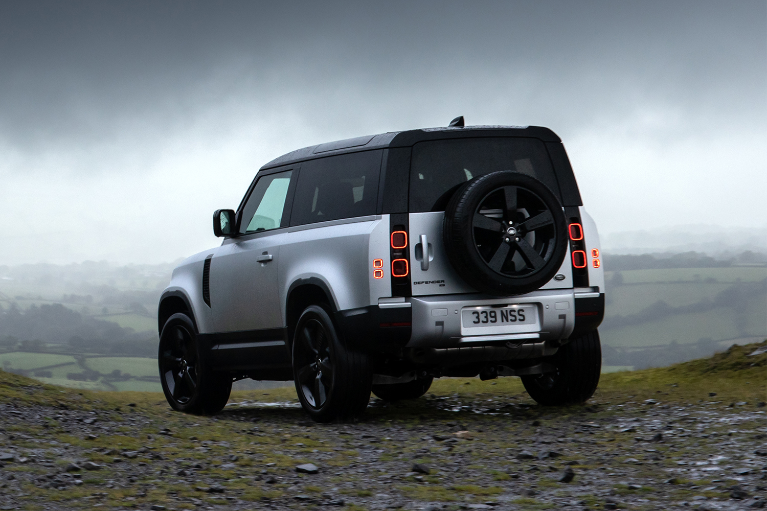 The rear end of the 2021 Land Rover Defender 90. Here's our review after test driving the luxury SUV.