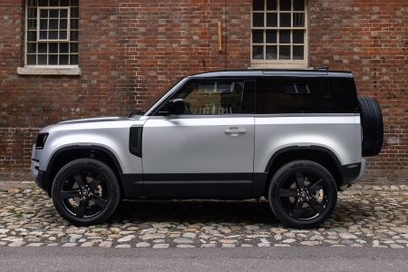 The profile of the 2021 Land Rover Defender 90. We test drove the British SUV from Jaguar Land Rover, impressed by the performance but let down by the interior.