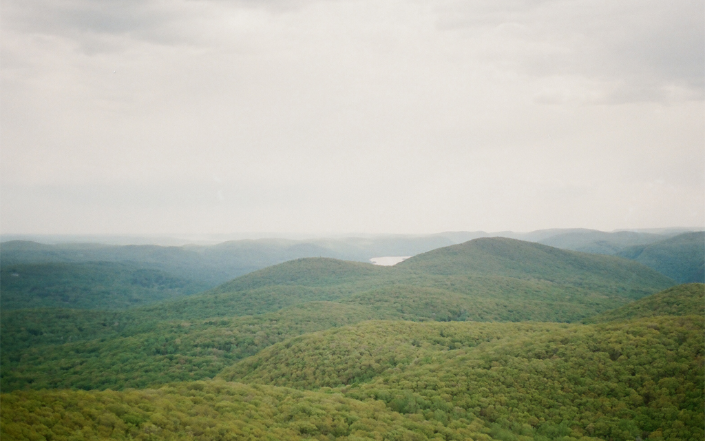 Rolling hills of the Hudson Valley in upstate New York