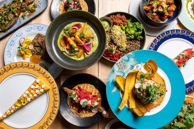 A sampling of Bloom Plant Based Kitchen's plant-powered menu