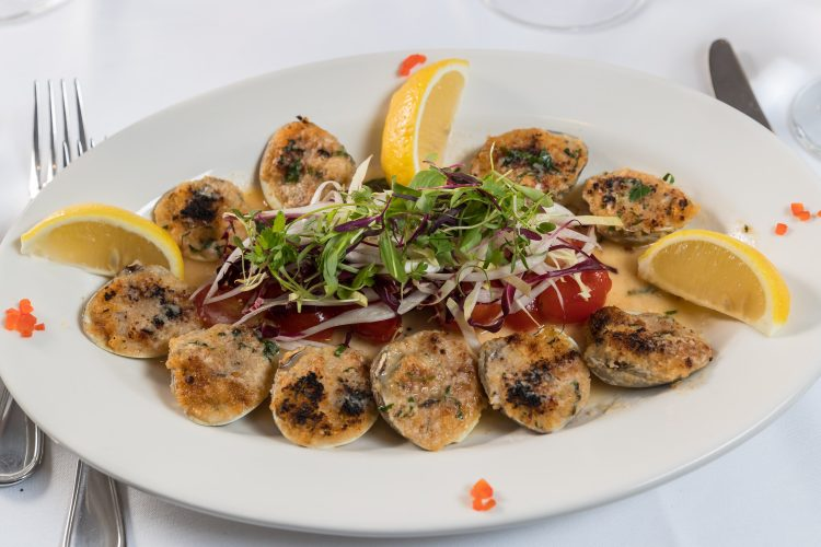Baked Clams Oreganata from Tuscany Steakhouse in NYC