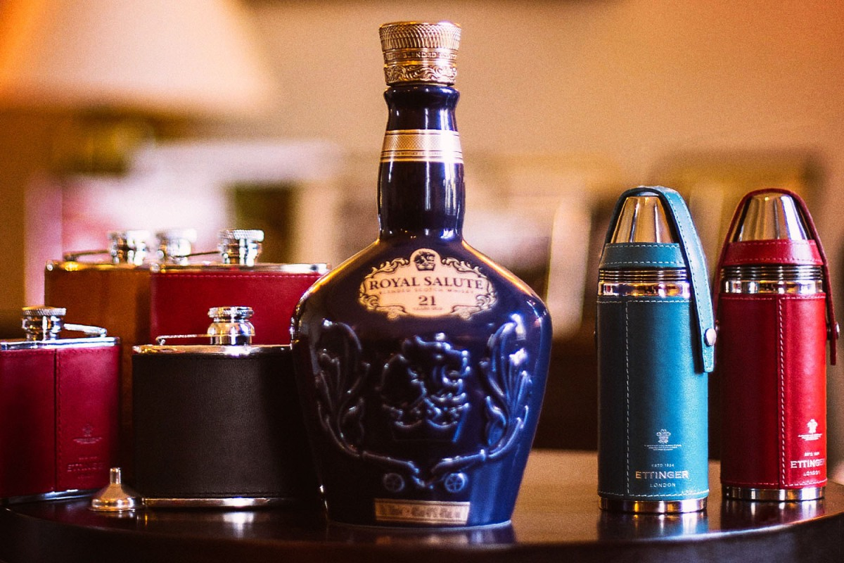 A selection of flasks from Ettinger