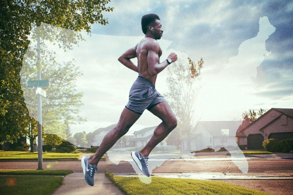 hellah sidibe first black man to run across america