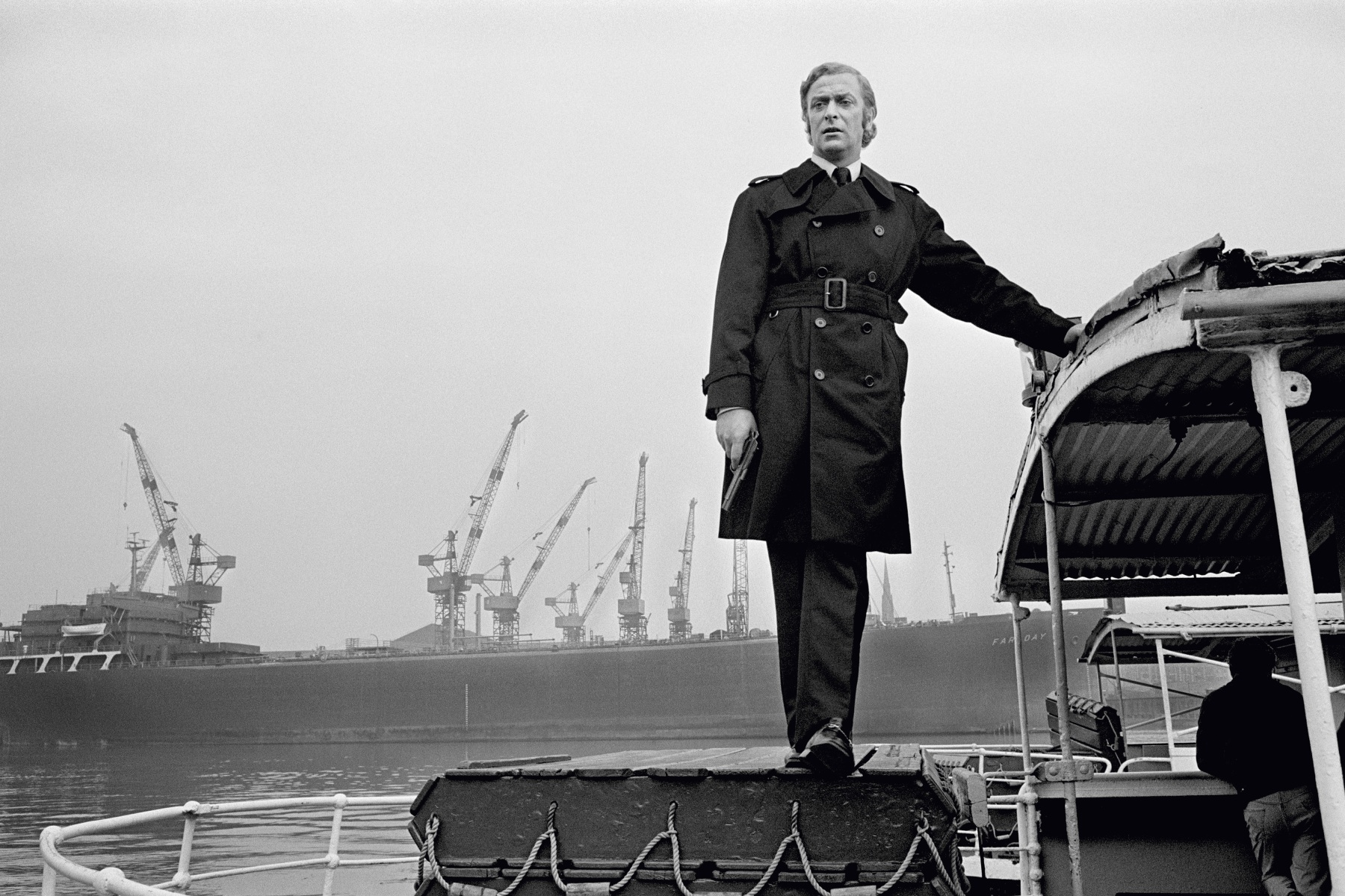 """Michael Caine during the making of """"Get Carter"""""""