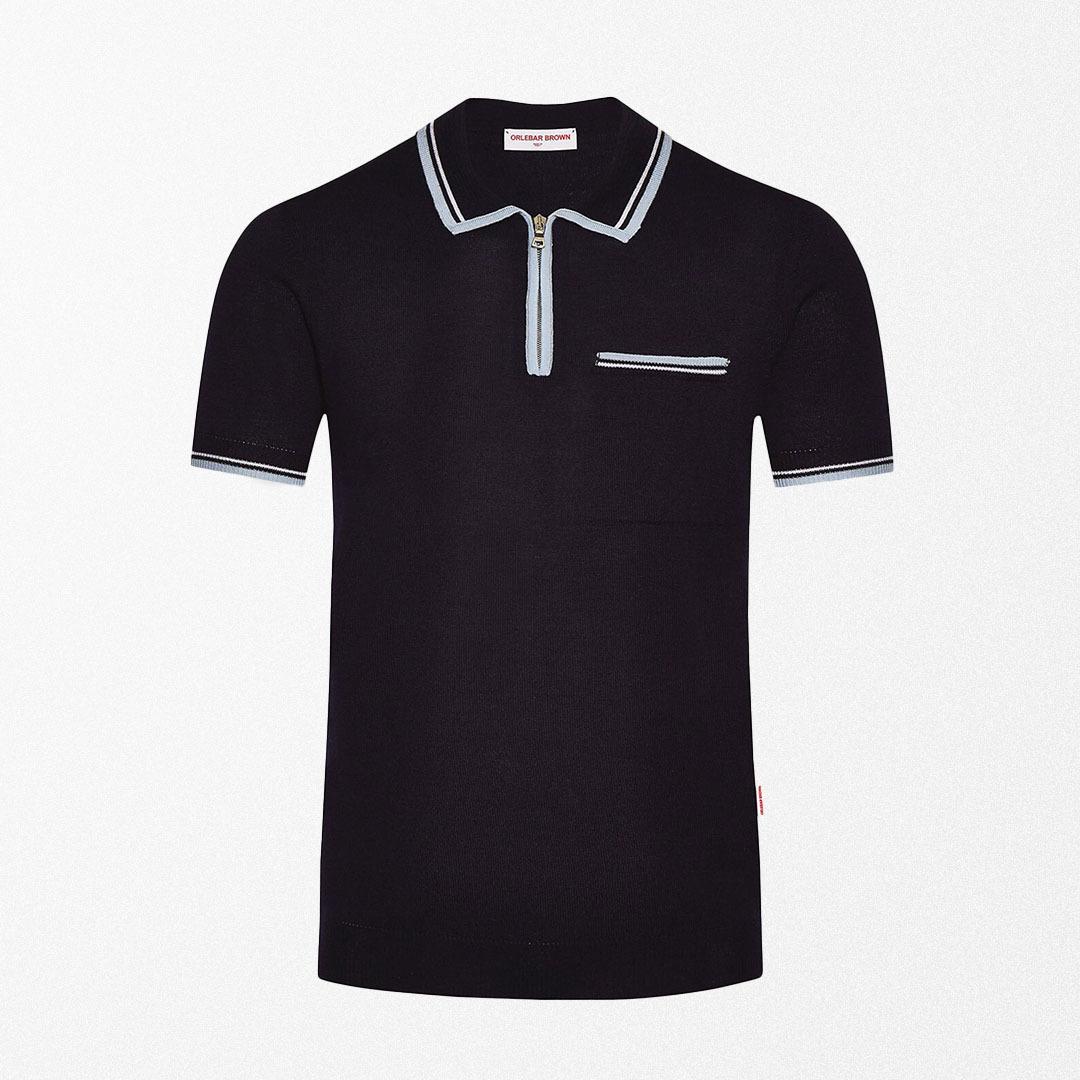 Orlebar Brown Haden Tipping Wool Polo Shirt
