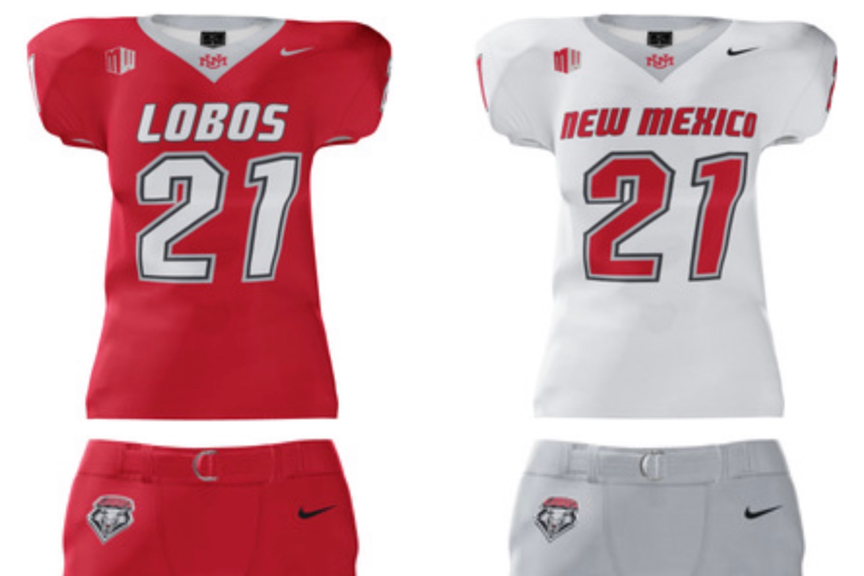 New Mexico Athletics football uniforms 2021