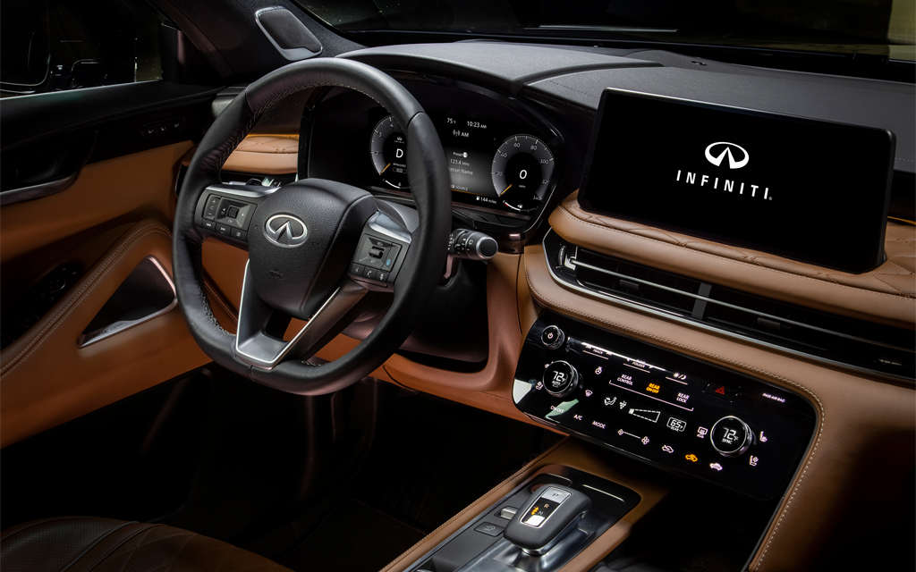 The QX60's redesigned interior is nearly unrecognizable