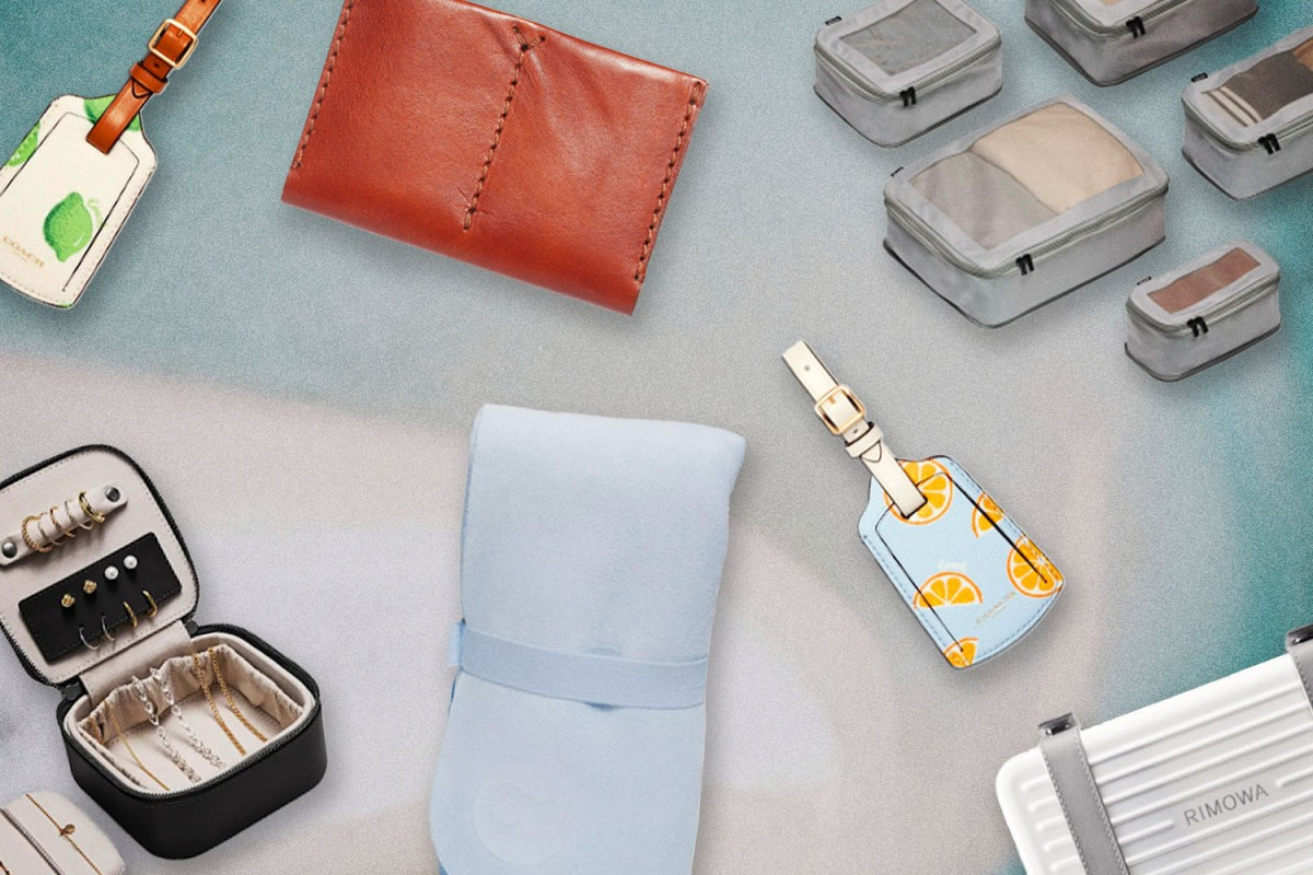 Luggage tags, passport holders and suitcases for her