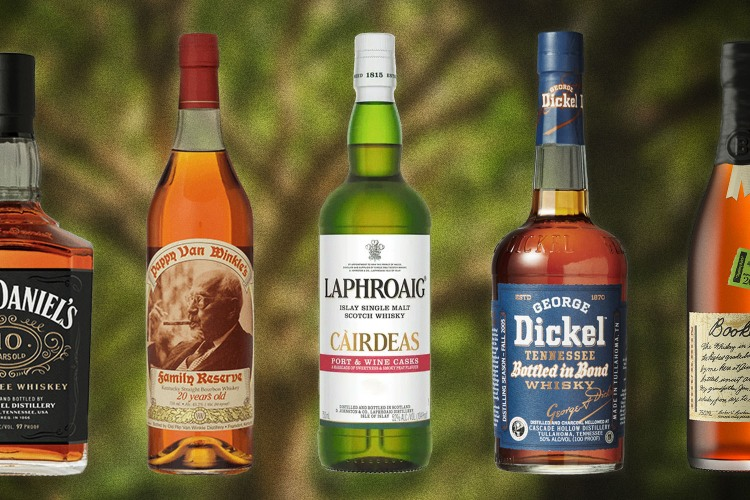 Bottles of rare whiskies that have an annual release
