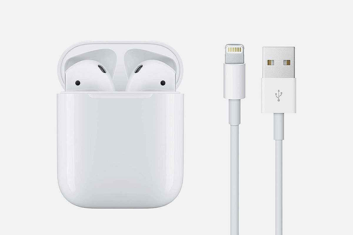 Apple AirPods 2 with Wired Charging Case (Grade A Refurbished), on sale at Woot