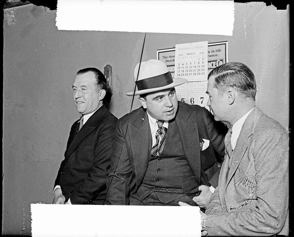 Al Capone and attorney William F. Waugh