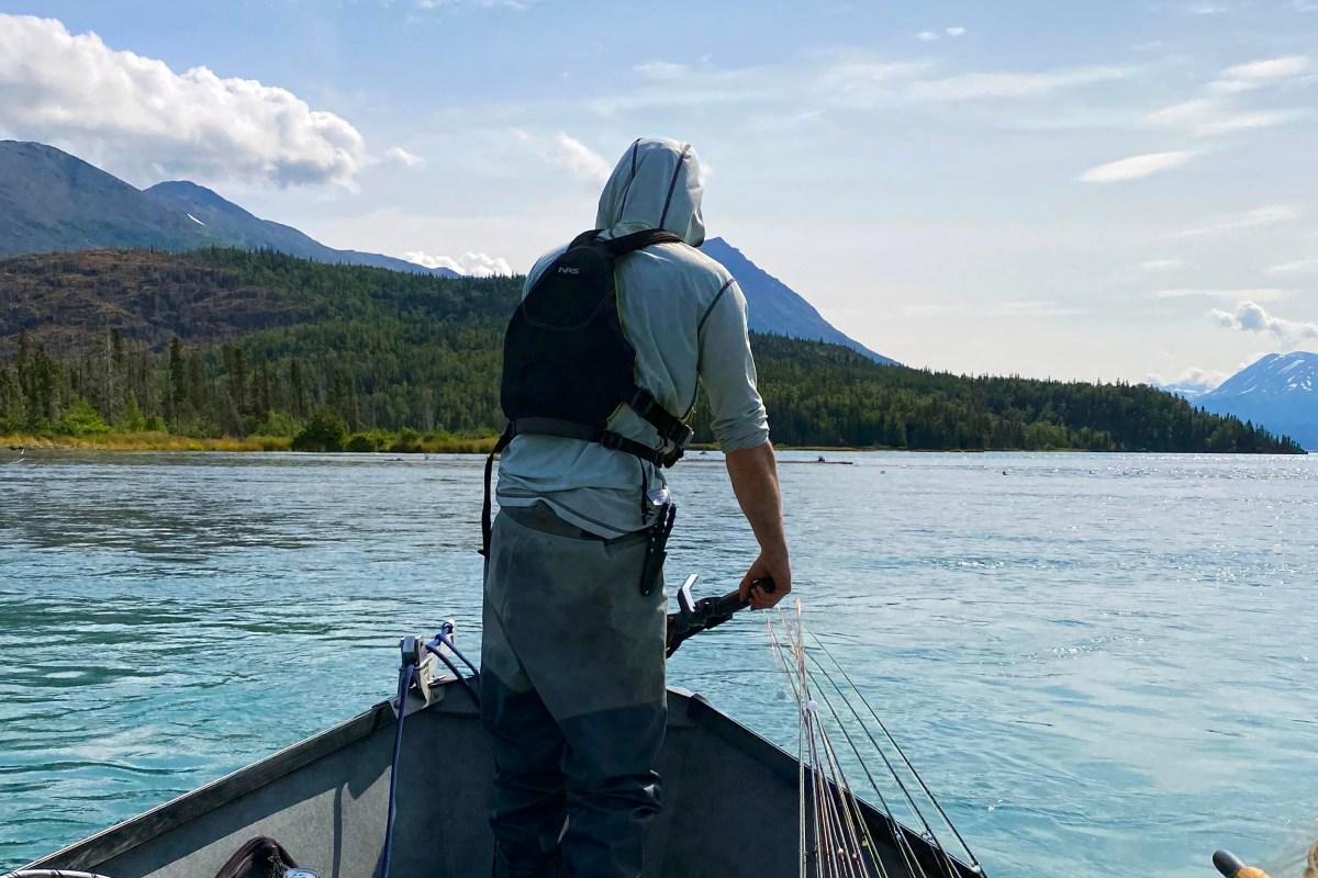 Trawling through Skilak Lake, off the Kenai River