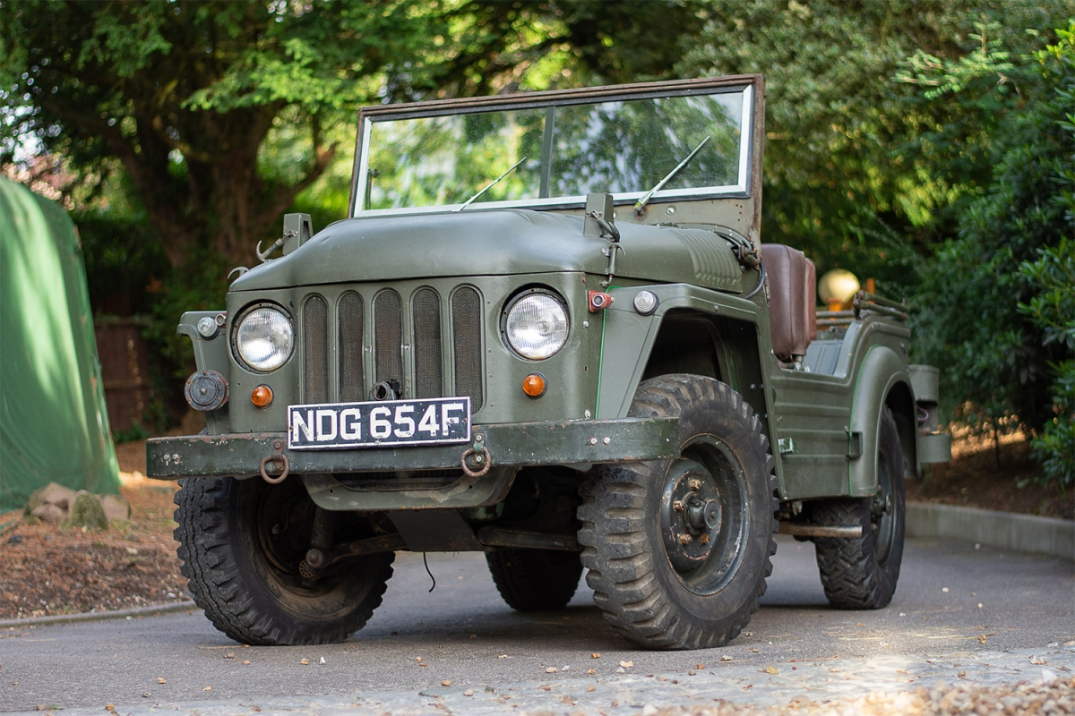 A 1952 Austin Champ off-roader from British outfit Austin Motor Company. The vehicle was built in response to the American jeeps of World War II, and this model was auctioned in August 2021.
