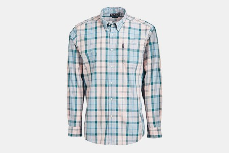 Barbour Sandwood Long Sleeve Shirt in Pink and Blue Plaid