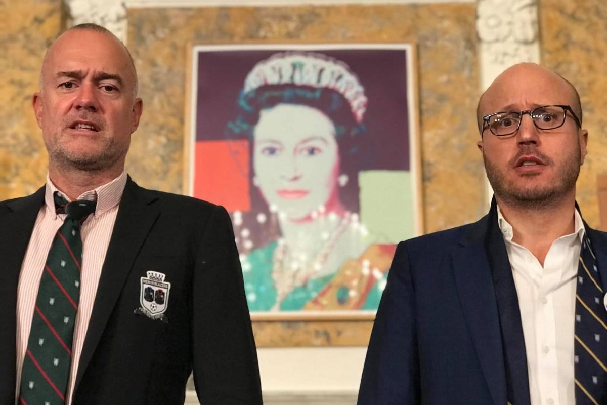 """Michael Davies (left) and partner Roger Bennett of """"Men in Blazers"""""""