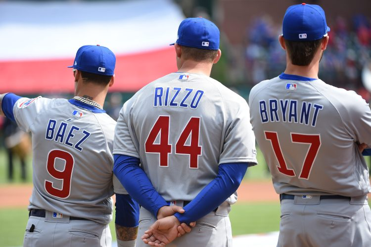 Ex-Cubs Javier Baez, Anthony Rizzo and Kris Bryant