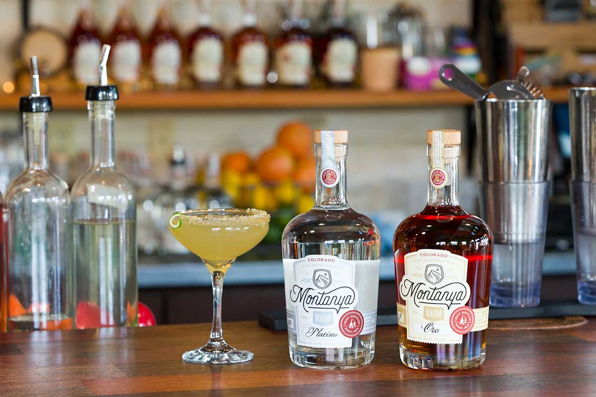 Daiquiri by Montanya Distillers, shown with two different rums