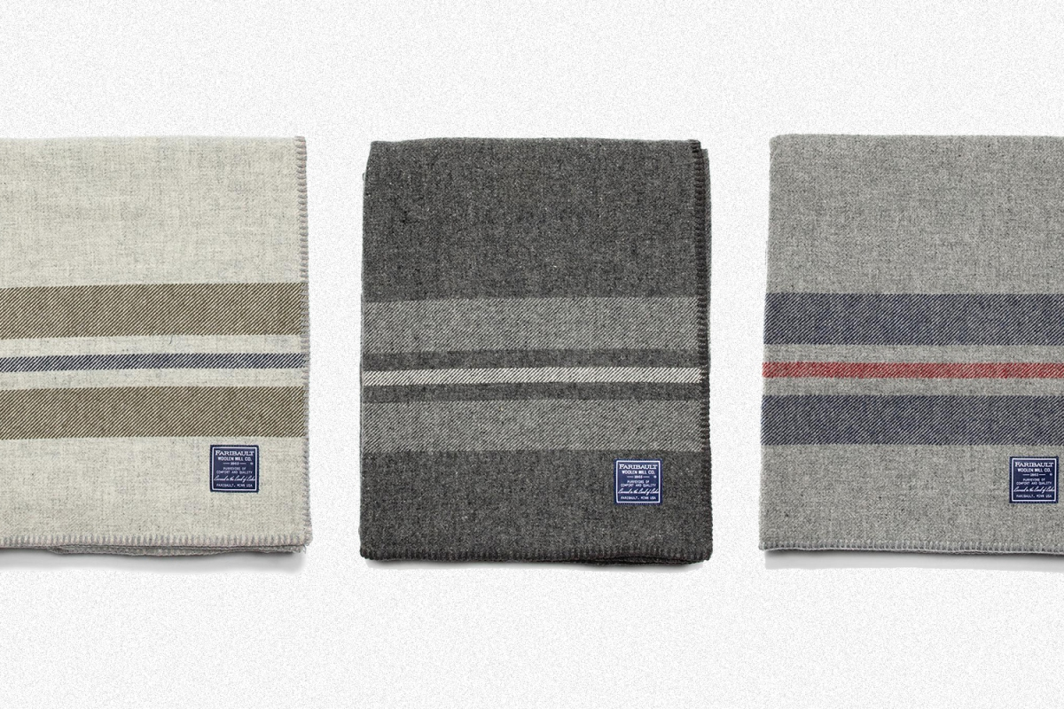 The King-Size Cabin Wool Blanket from Faribault Woolen Mill Co. in Minnesota. Get the American-made blanket on sale now.