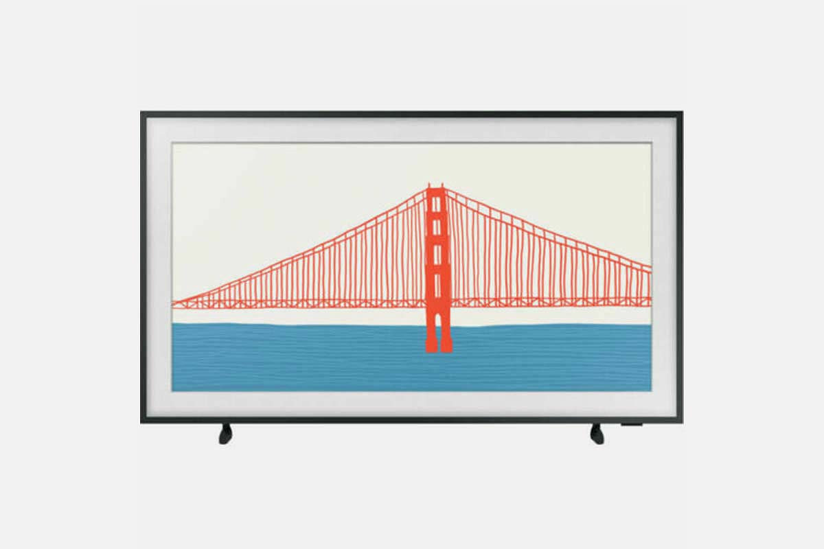 Samsung's The Frame TV showcasing artwork. The set is $500 off at eBay.