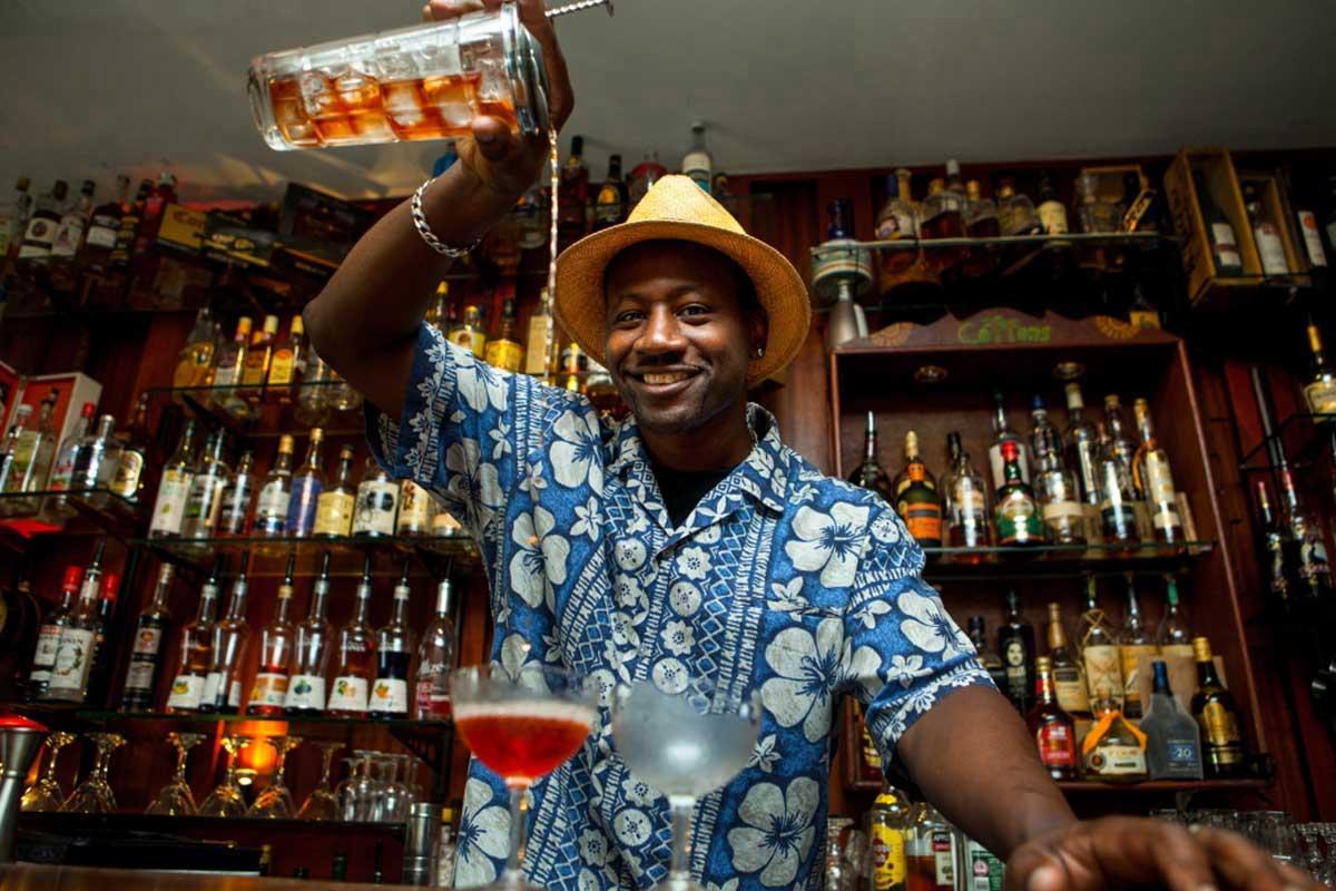 Rum ambassador Ian Burrell mixing a cocktail