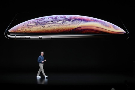 SEPTEMBER 12: Tim Cook, chief executive officer of Apple, speaks during an Apple event at the Steve Jobs Theater at Apple Park on September 12, 2018 in Cupertino, California. Apple's next big launch event for the iPhone will probably happen in mid-September
