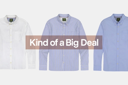 JACHS NY White, Striped and Blue Oxford