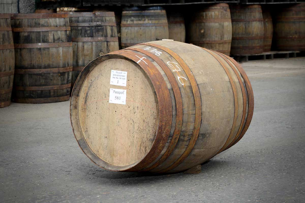 A cask of Macallan-1991, which just sold for HK$4,464,000