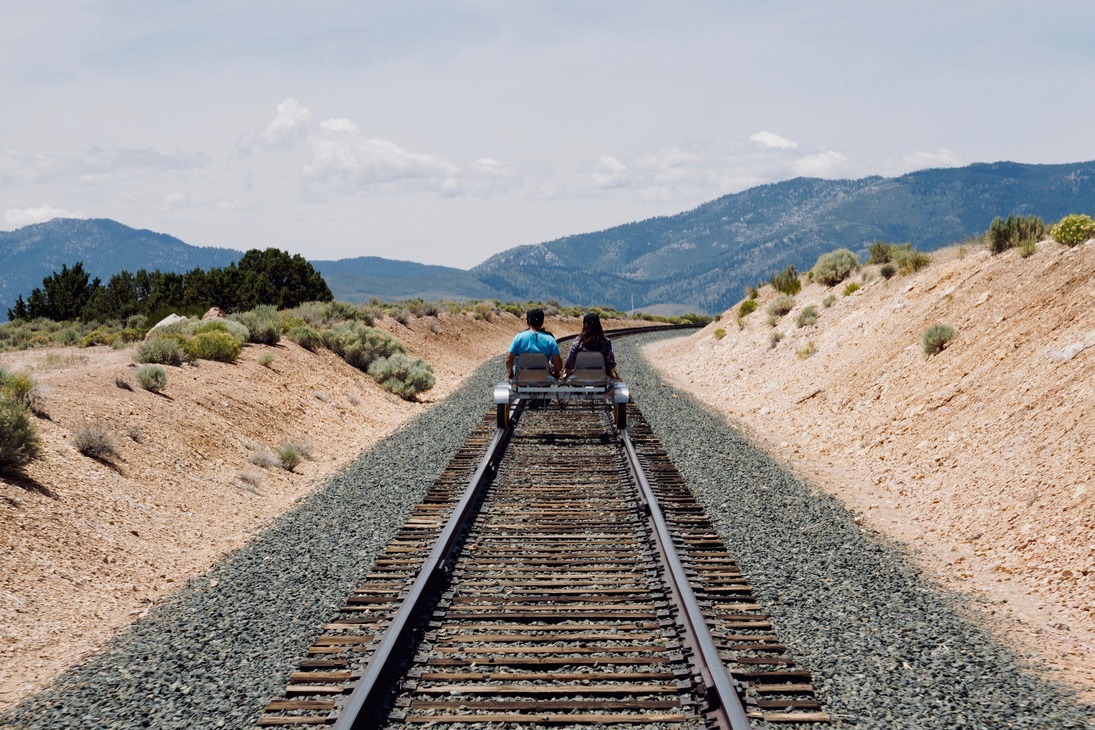 A railbike tour in Carson Canyon near carson city, nevada