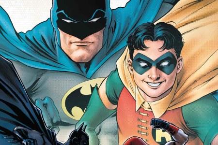The cover of Batman: Urban Legends #6, where Robin accepts a date with a male friend (not Batman)