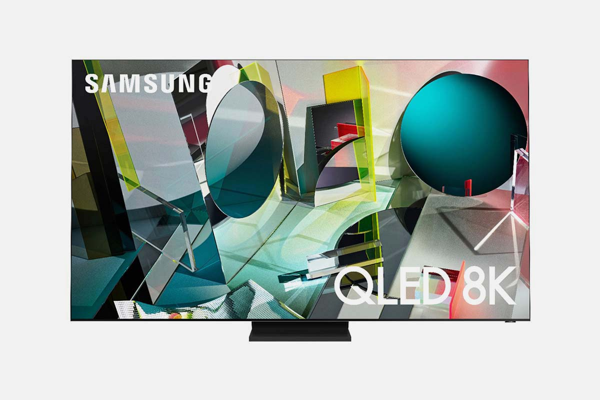 """Front of a Samsung - 75"""" Class Q900TS Series QLED 8K UHD Smart Tizen TV, now on sale at Best Buy"""
