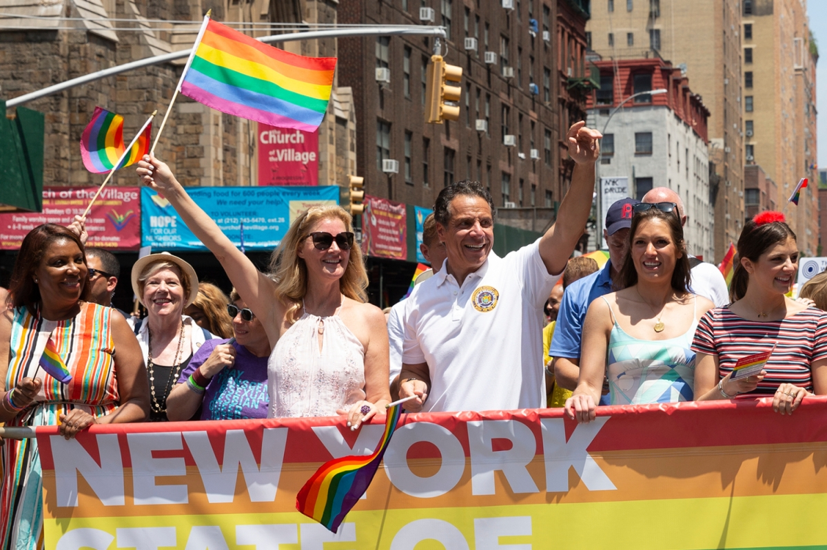Sandra Lee and Andrew Cuomo attend 49th annual New York pride parade
