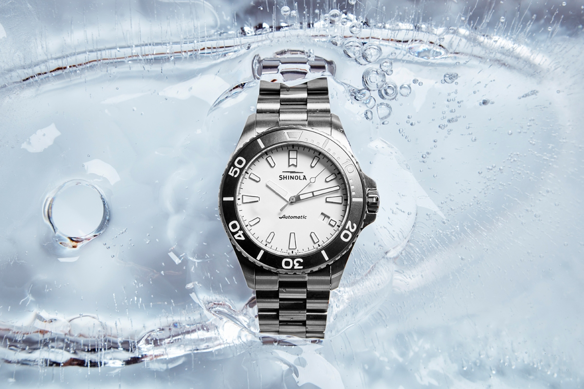 The Shinola Ice Monster, an automatic watch, encased in a block of ice. It's just one timepiece that's heralded the brand's comeback.