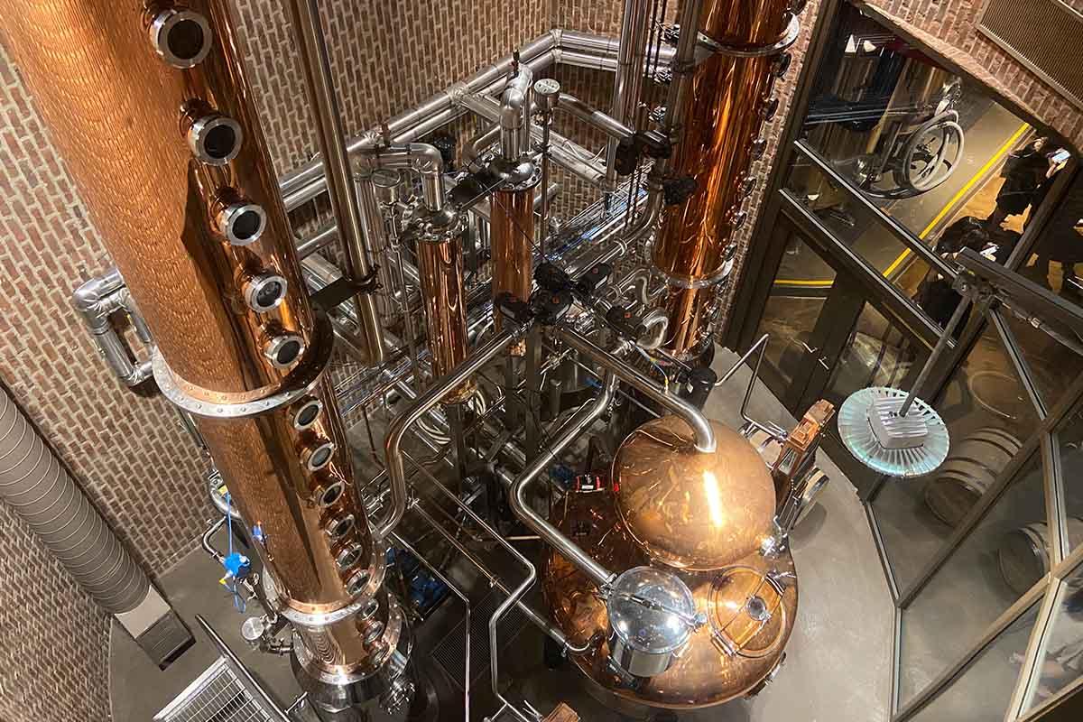 The stills at Great Jones Distilling Co.