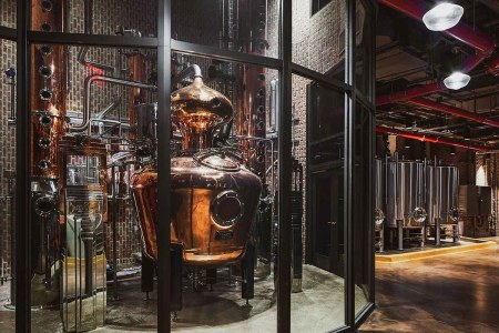 combination copper pot still with two columns housed on the second floor of Great Jones Distilling Co, a new distillery opening in Manhattan