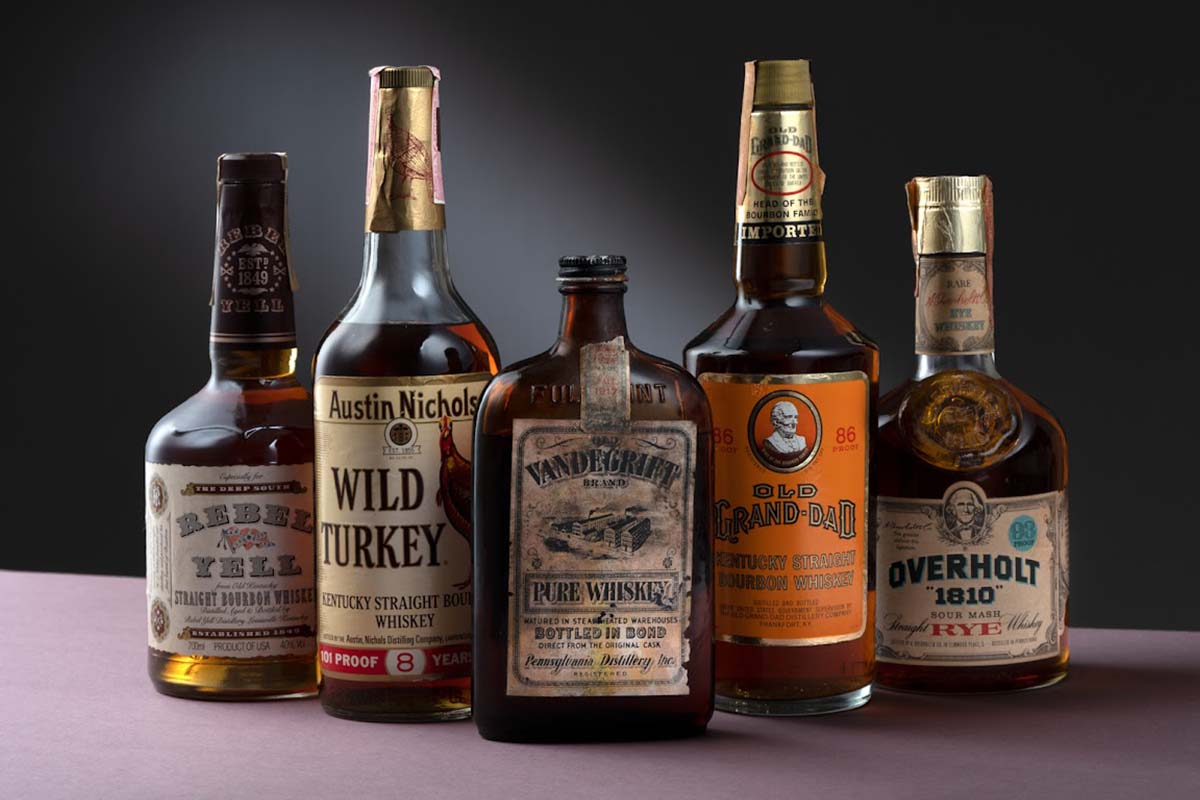 """Five of the rare bottles we were able to try leading up to Whisky Auctioneer's """"A Century of American Whiskey"""" event"""