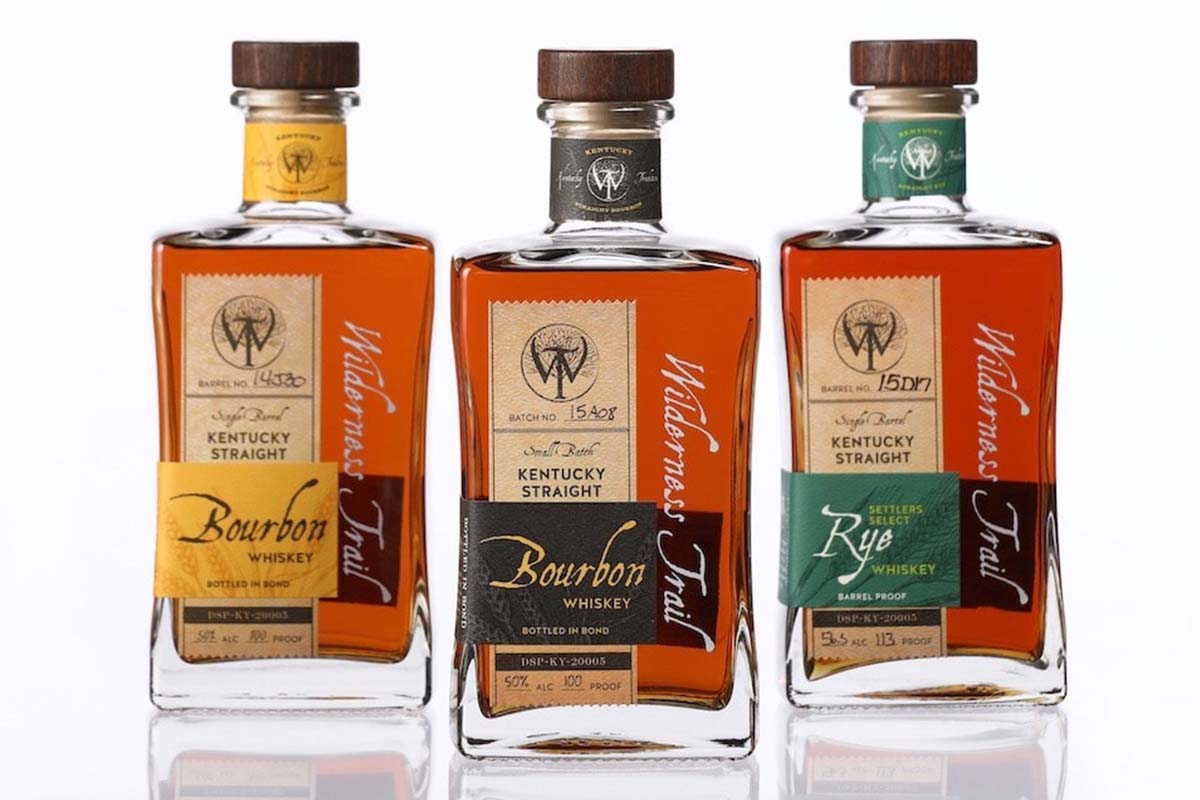 three expressions of Wilderness Trail bourbon and rye
